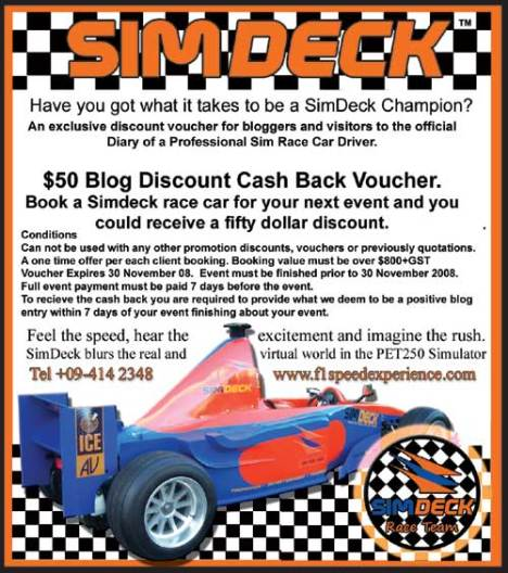 Exclusive Cash Back Voucher for your next SimDeck GP