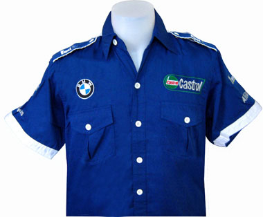 Auto Racing  Crew Clothing on Race Team Clothing    Bmw Sauber F1 Racing Pit Crew Shirt