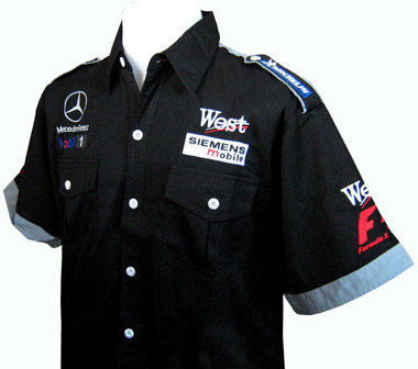 Mercedes benz f1 pit crew shirt professional formula one for Mercedes benz shirts