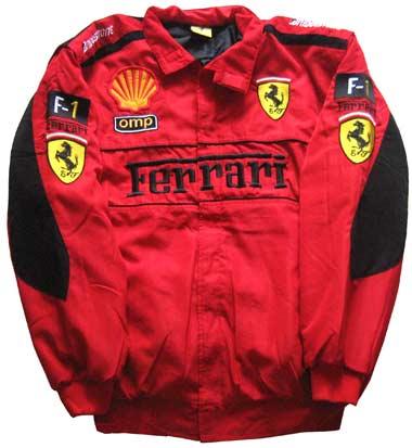 F1 FERRARI RED TEAM JACKET  Professional Formula One Simulator Race car driver