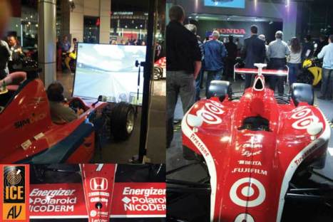 SimDeck brings the Scott Dixon car alive. The SimDeck PET250 simulator recreated the virtual version of the Scott Dixon car and bought it to life on the Orchard Lake circuit. The simulator created a real buzz amongst those who took on the mantle of Scott Dixon in the virtual world as they endeavoured to maintain control and high speed. However Scott has nothing to worry about if he thought that his driver seat position in the Chip Gannasi Race Team was under challenge. The guests for the evening hosted by Honda were from Logistics company Jenner who had the priviledge of being entrusted with Scott's car to bring it from the USA and its return in a few days time.