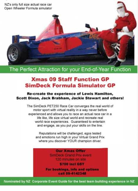 SimDeck Formula One Simulator