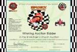 The wiining bidder could be on the way to starting their career as the next Formula One or Indy 500 world champion!