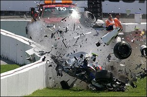 Robert Kubica's high-speed crash at the 2007 Canadian Grand Prix.