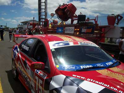 One of the many cars that were put thru there paces, this one driven by Shane Van Gisenberg.