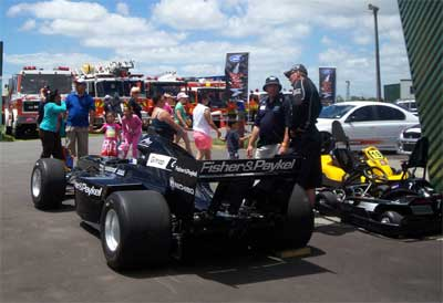 The A1GP on static display allowed visitors to get up close to the NZ entry in the A1GP series.