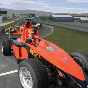 The world's first simulator that is also a petroled powered open wheeler race car. The ultimate race plaform that converges real and virtual worlds.