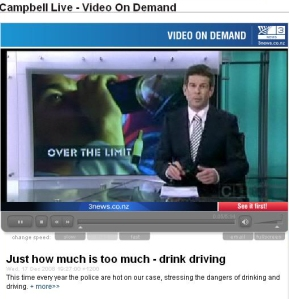 Campbell Live addresses the growing problem of driving whilst under the influence of alcohol.