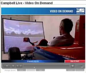 Tony Reid driving the SimDeck PET250 simulator. Click on the image to view the video programme.