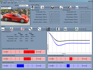 This software programme enables you to setup real world cars and all the vehicles in the Live For Speed simulation programme.