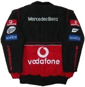 BLACK-RED MCLAREN MERCEDES F1 TEAM JACKET ID148